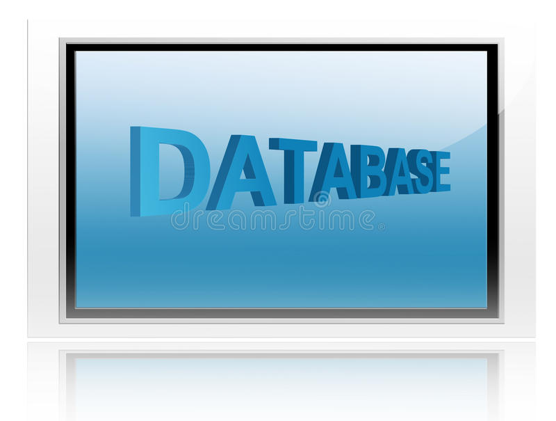 Download Databse stock illustratie. Illustratie bestaande uit brief - 10781027