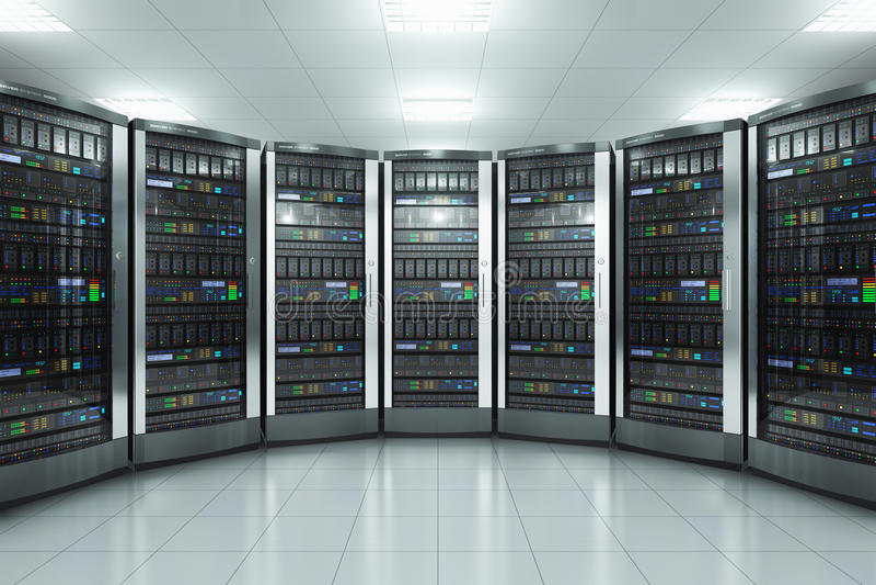 datacenter的服务器空间 皇族释放例证