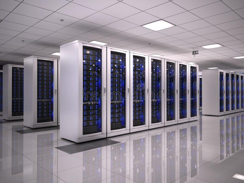 服务器室 库存例证