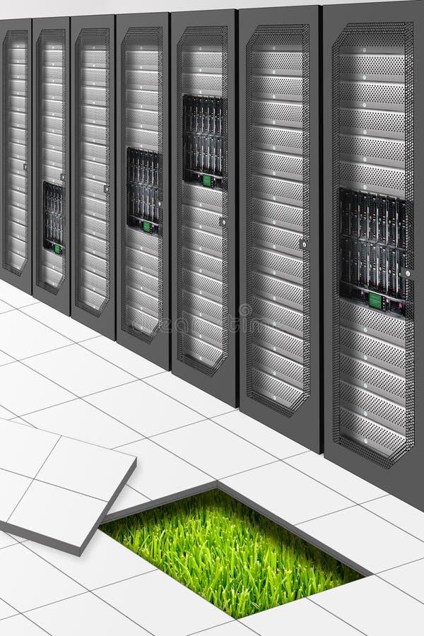 datacenter绿色 向量例证
