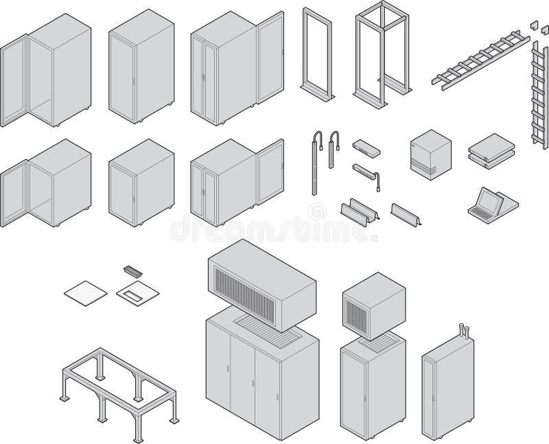 datacenter设备 库存例证