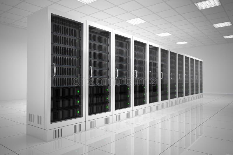 Datacenter με μια σειρά διανυσματική απεικόνιση