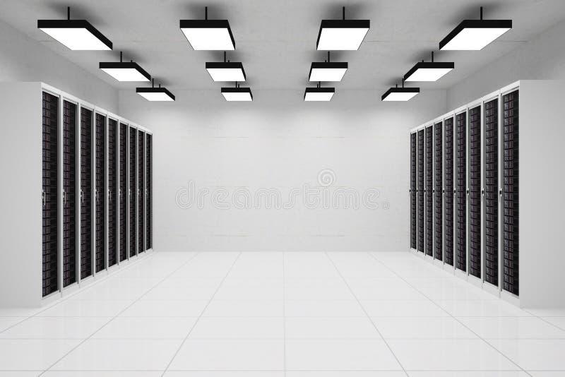 Datacenter με το copyspace ελεύθερη απεικόνιση δικαιώματος