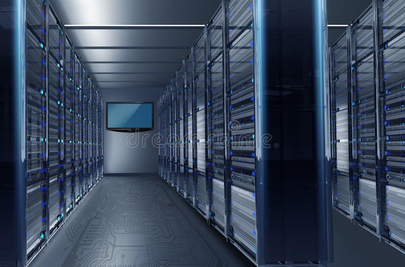 Datacenter aleja royalty ilustracja