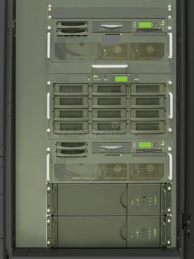 Datacenter computer servers rack royalty free stock images