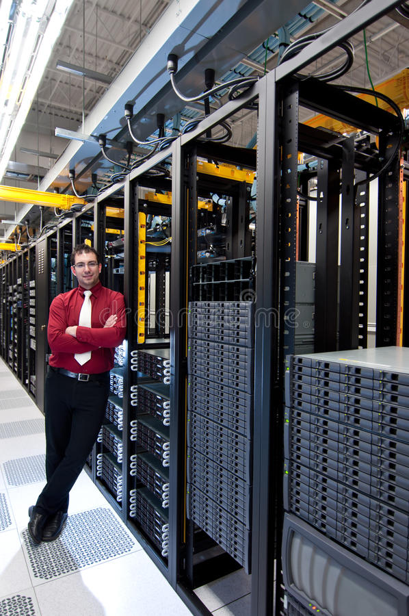 Datacenter Manager stockfotografie