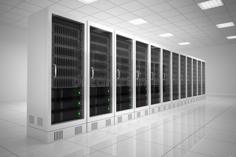 Datacenter with one row vector illustration