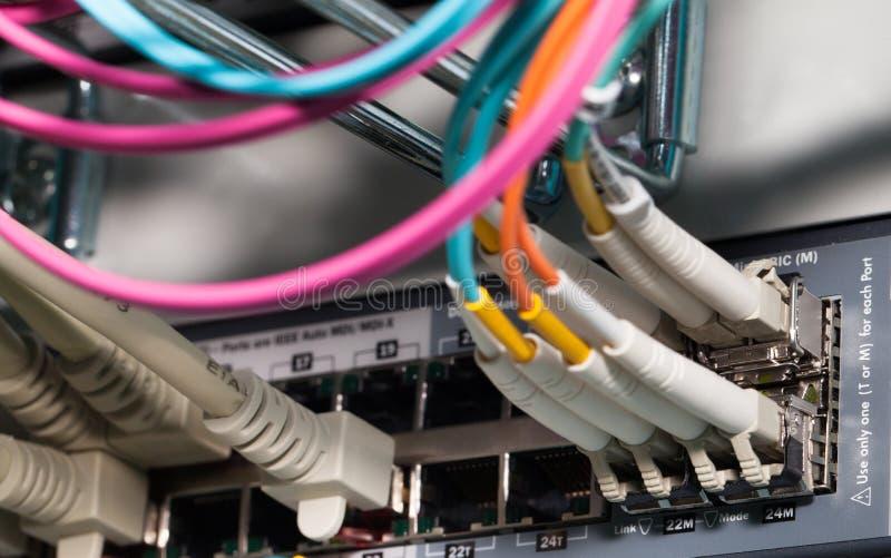 datacenter server fiber optic connection 49146089 datacenter server with fiber optic connection stock image image