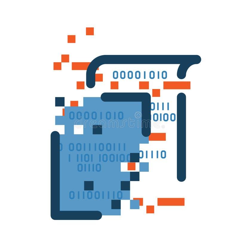 Dataförlustsymbol royaltyfri illustrationer