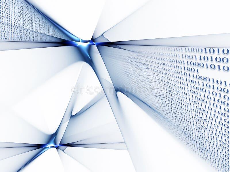 dataflöde för binär kod royaltyfri illustrationer