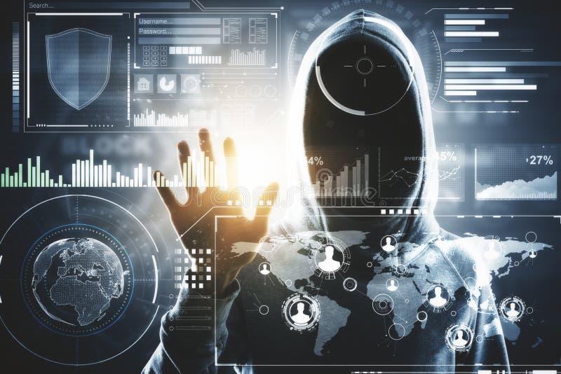 Dataintrång- och teknologibegrepp arkivbild