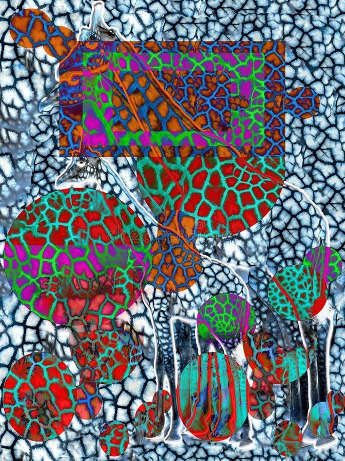 datalistor konst abstrakt teckning Sömlöst tryck Tapet tygdesign Modellstil Bakgrund royaltyfri illustrationer