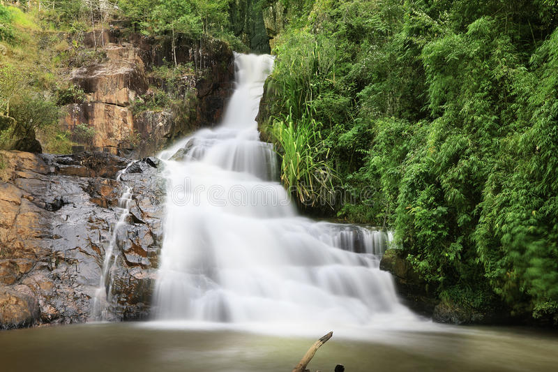 Datanla瀑布,大叻 越南 库存照片