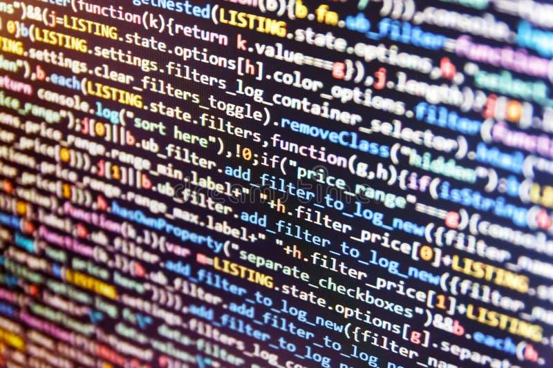 Dataoptimization För teknologibeståndsdel för abstrakt begrepp grafiska data för programvara att övervaka ny funktion Js och den  royaltyfri bild