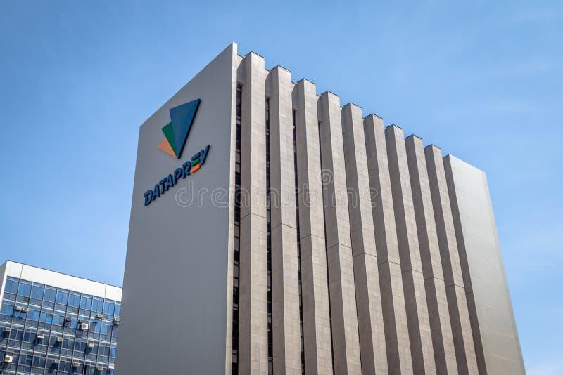 Dataprev la compañía de proceso de datos del instituto de la Seguridad Social - INSS - Brasilia, Distrito federal, el Brasil foto de archivo libre de regalías