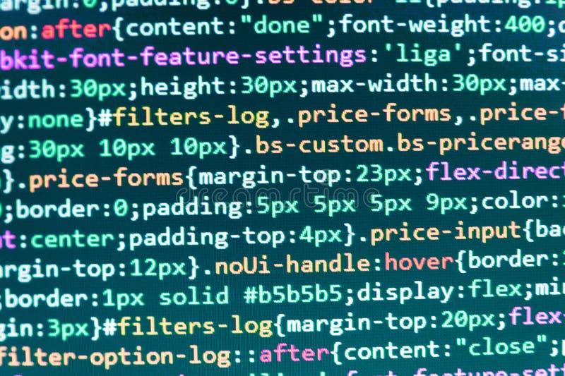 Dataprogramförtitt Idérik fokuseffekt S royaltyfri bild