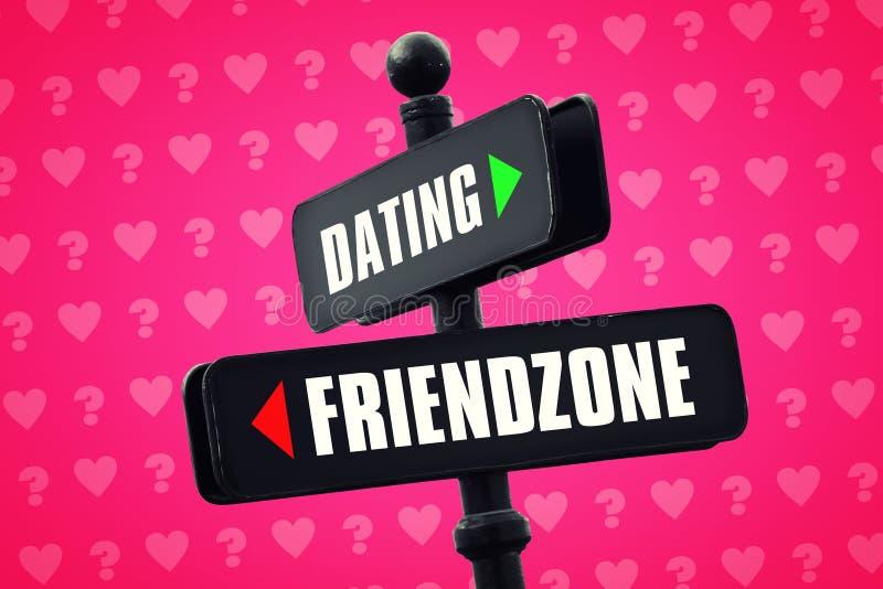 Datar ou Friendzone ilustração royalty free