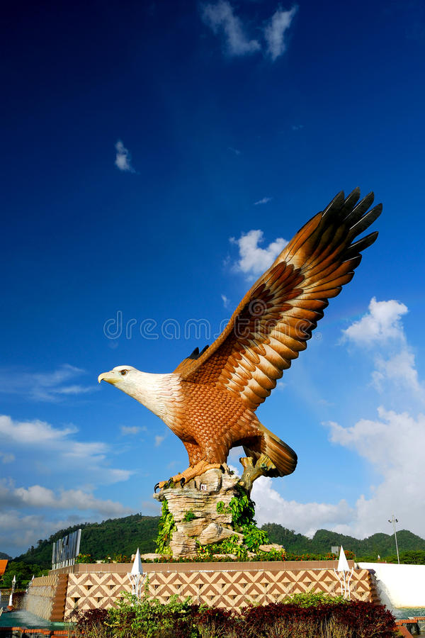 The Dataran Lang (Eagle Square) stock photo