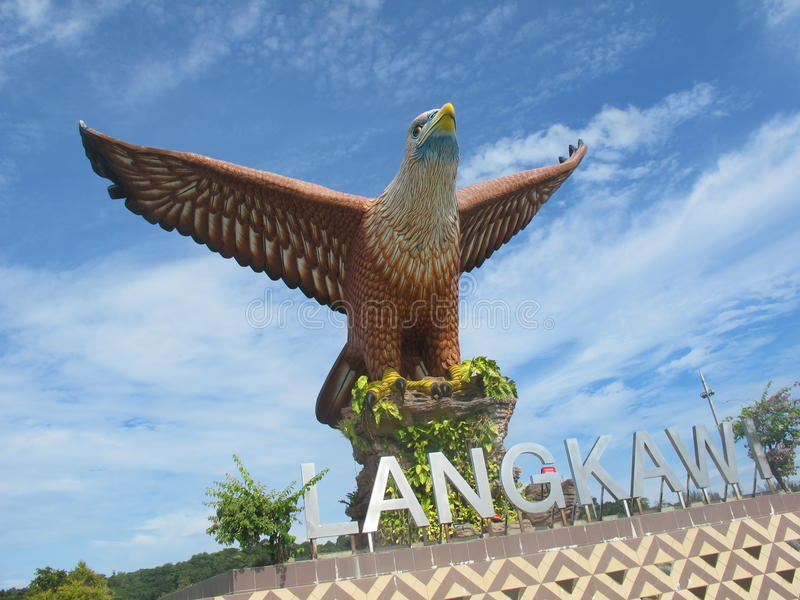 Dataran Lang (Eagle Square) stock image