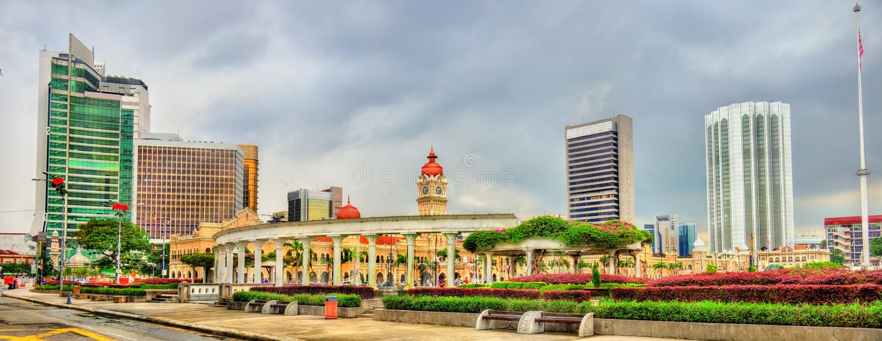 Dataran Merdeka or Independence Square in Kuala Lumpur, Malaysia stock images