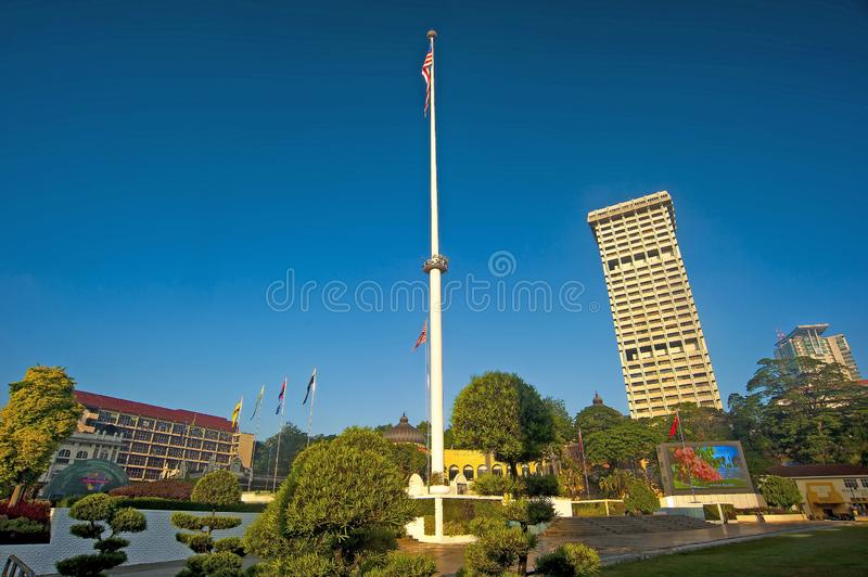 Dataran Merdeka. Merdeka Square is a square located in Kuala Lumpur, Malaysia. It is situated in front of the Sultan Abdul Samad Building. Literally Independence royalty free stock images