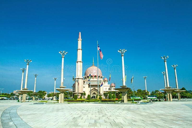 DATARAN PUTRAJAYA PUTRAJAYA SQUARE. Dataran Putra or Putra Square is located opposite Perdana Putra. It is the venue of national-level celebrations and festivals stock photo