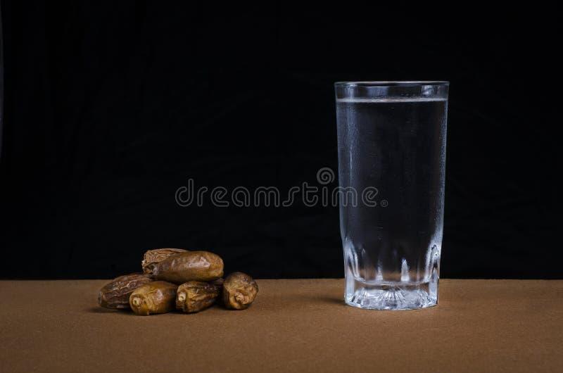 Datas e água imagem de stock royalty free