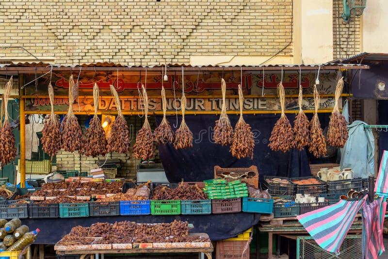 Datas para a venda em Tunísia imagens de stock