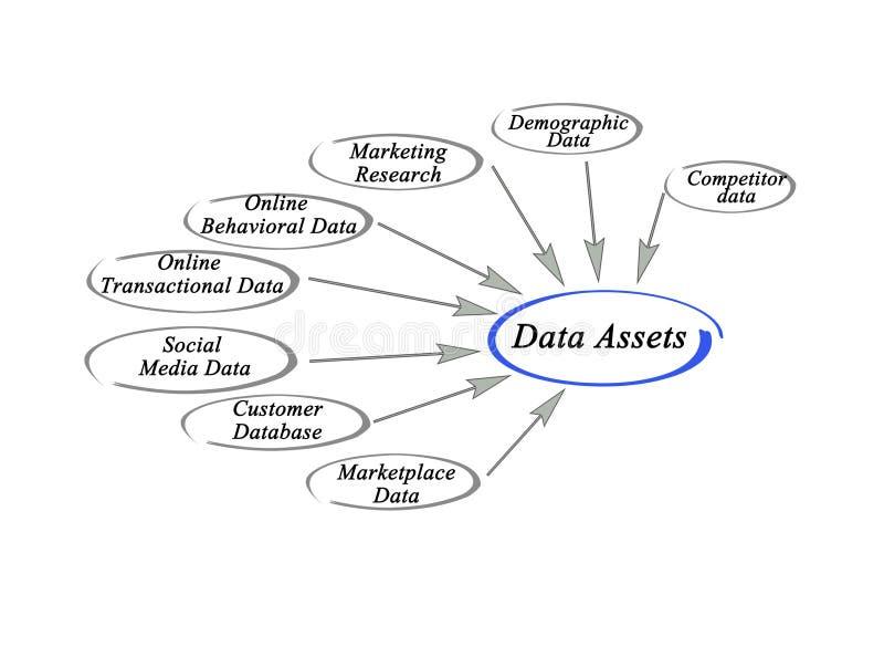 Datatillgångar vektor illustrationer
