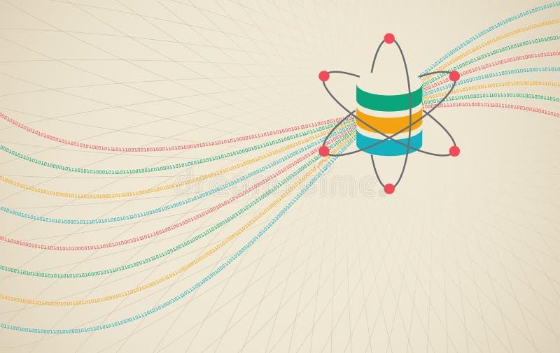 Datavetenskap och kommunikationsbegrepp stock illustrationer
