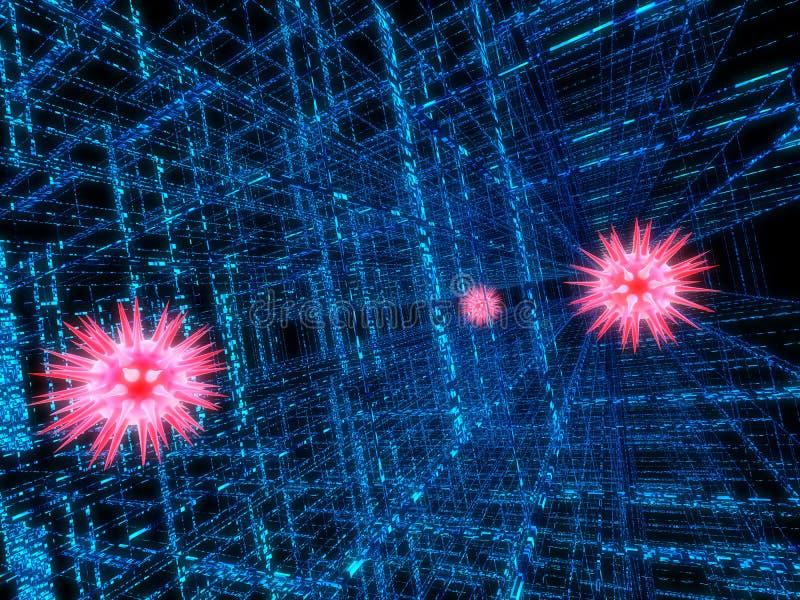 datavirus royaltyfri illustrationer