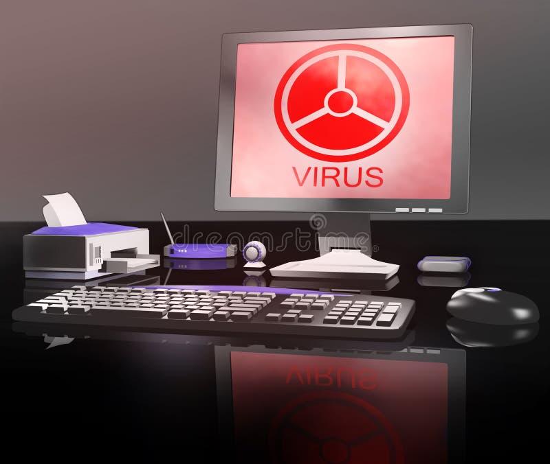 datavirus vektor illustrationer