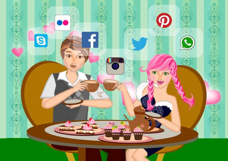 Datazione online royalty illustrazione gratis