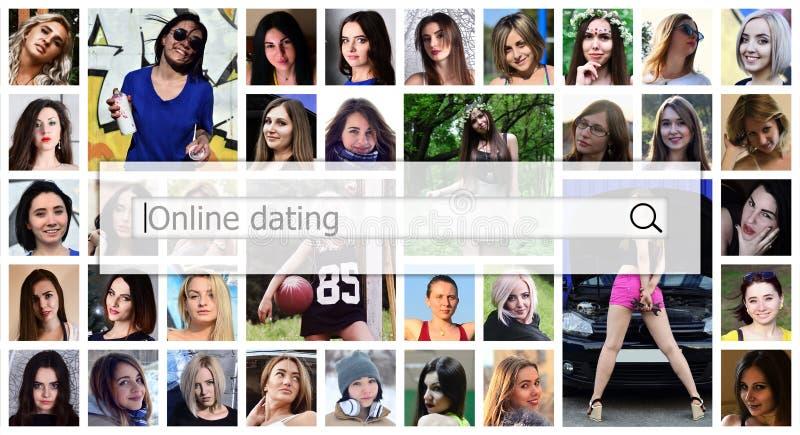 Datazione online Il testo è visualizzato nella search box sulle sedere fotografia stock