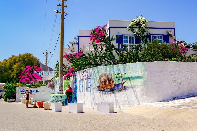 View of street in Palamuk Buku Koyu royalty free stock images