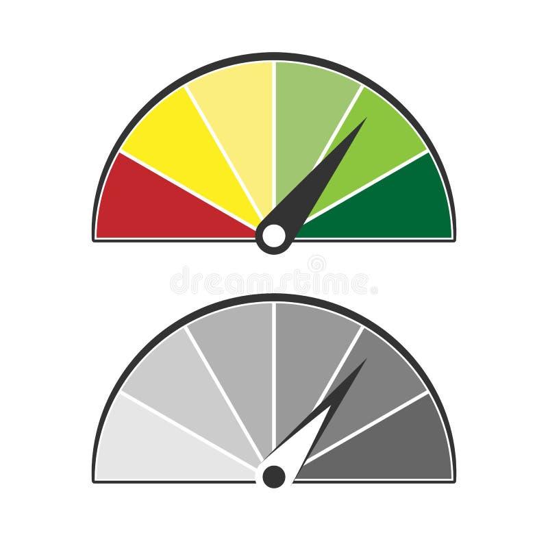 Datchik aan maatregel in twee variaties stock illustratie