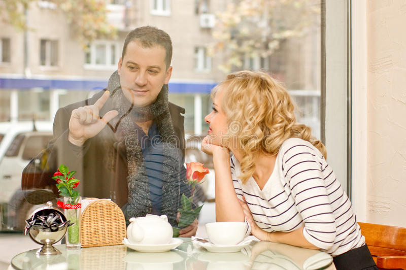 Date. Attractive Young Woman And Her Boyfriend Stock Image