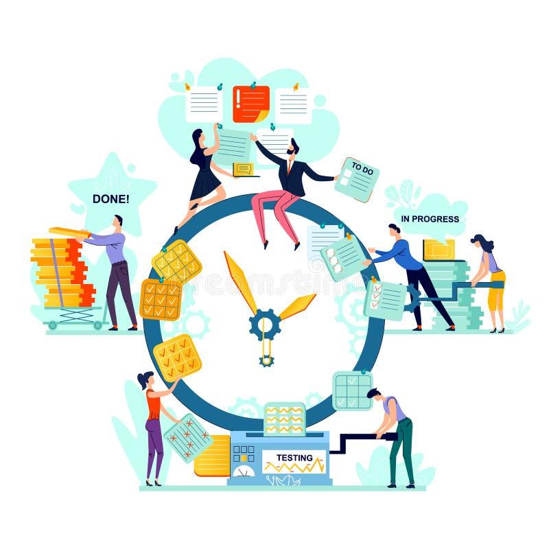 Date-butoir, vecteur de concept d'affaires de gestion du temps illustration stock