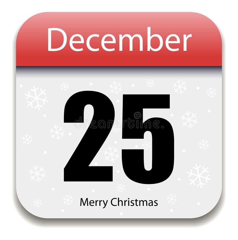 Date civile de Noël illustration libre de droits
