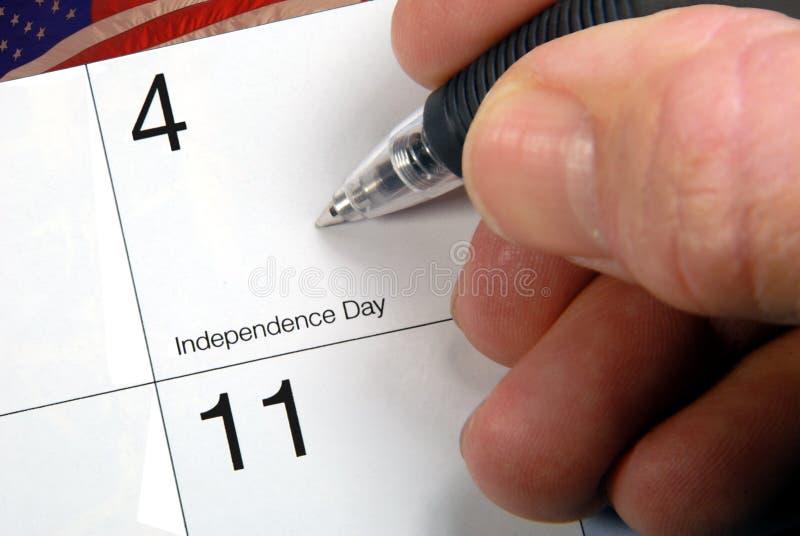 Date civile le 4ème juillet image stock