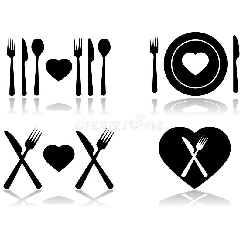 Date de dîner illustration libre de droits