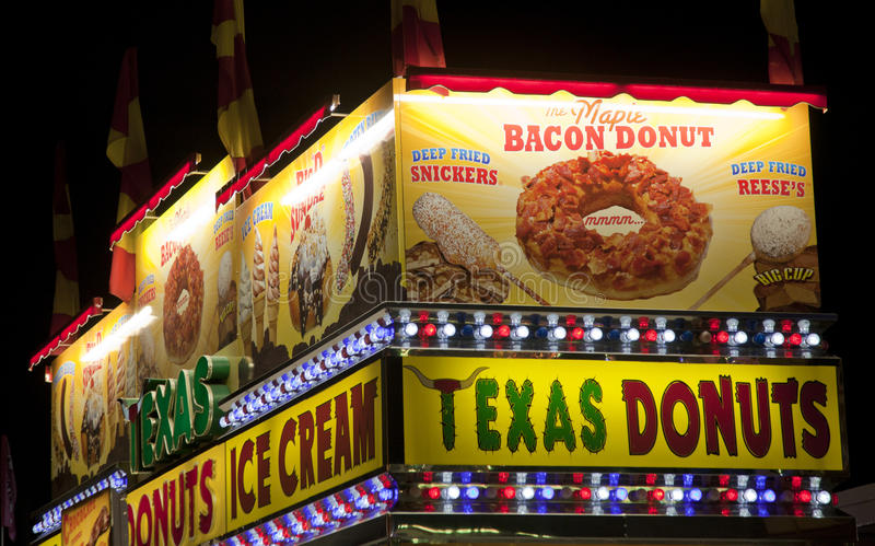 Date Festival Riverside County Fair. Bacon Donut at the Date Festival in Southern California, also named the Riverside County Fair royalty free stock image