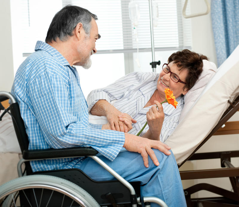 Date in hospital royalty free stock images