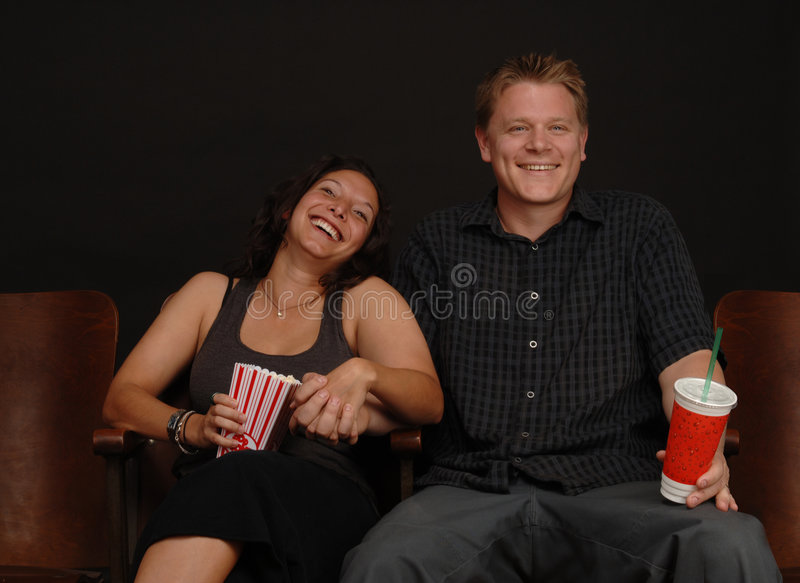 Date at the Movies. Couple on a date at the movies