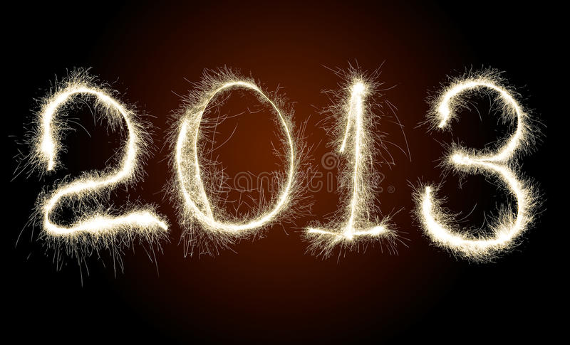 Date New Year 2013 stock photography