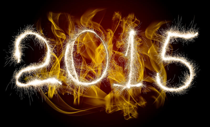 Date New Year 2015 royalty free stock photos