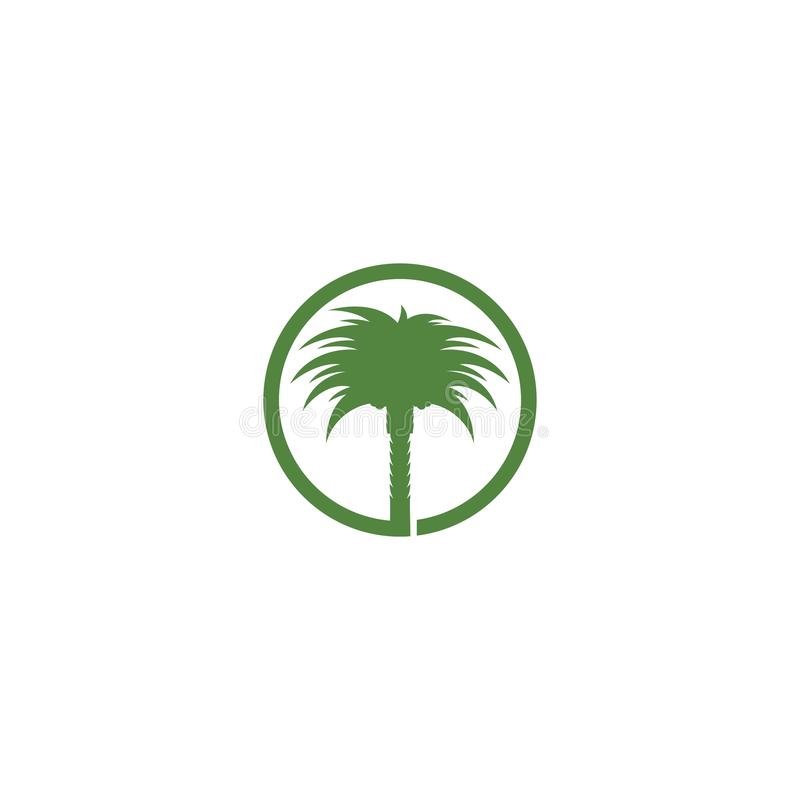 Date palm logo vector illustration