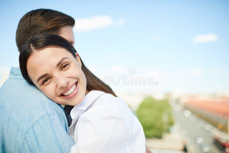 Date romantique dans la ville image libre de droits