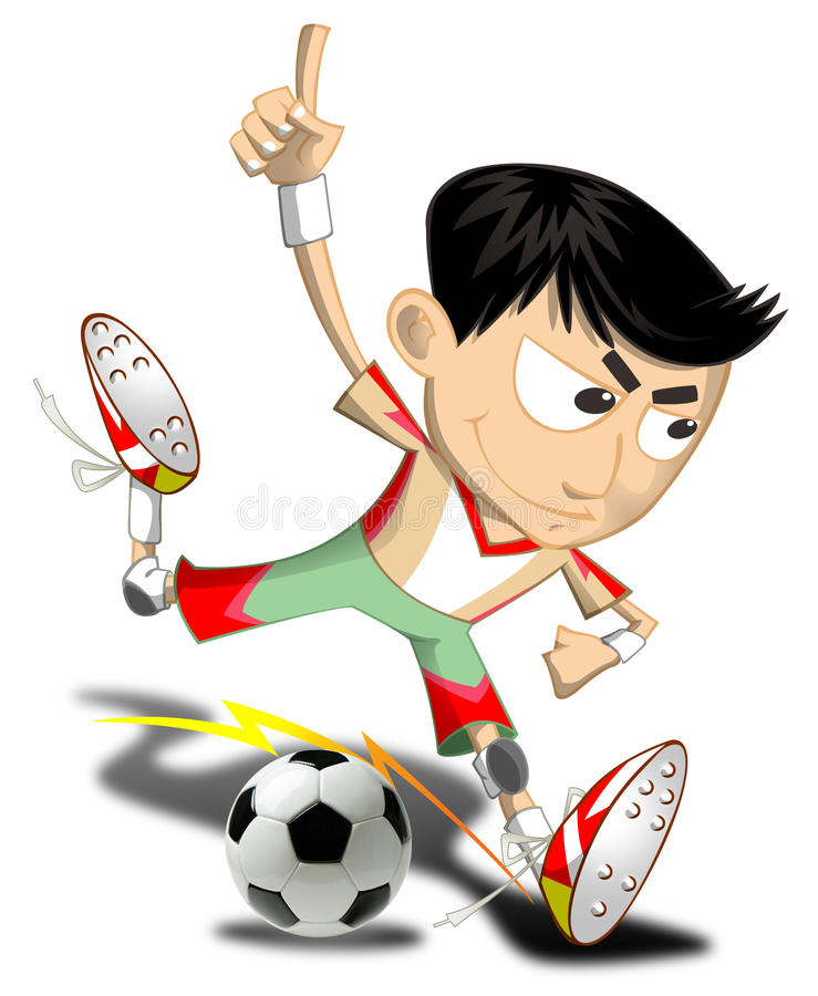 Datei-einfache Steigungen des Fußball-boy stockbilder