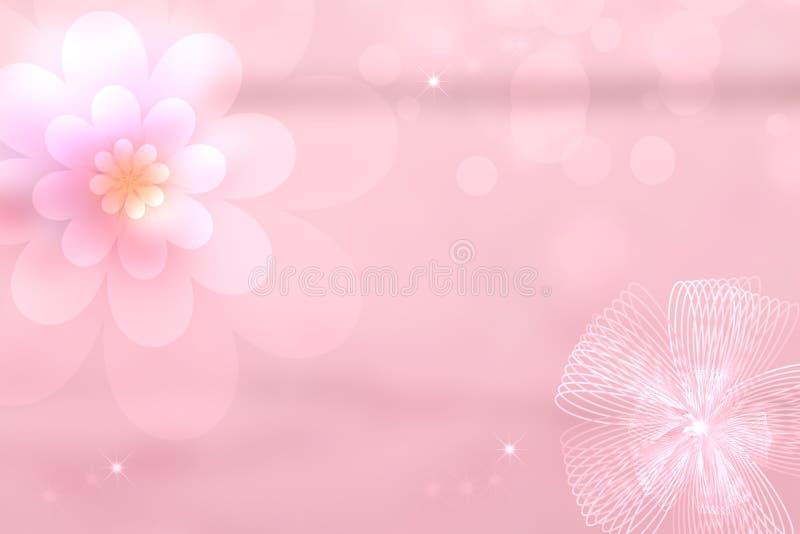 Datei ENV-8 eingeschlossen Abstrakter festlicher Muttertaggrußkarten-Beschaffenheitshintergrund mit einer rosa Blüte, einem rosa  vektor abbildung
